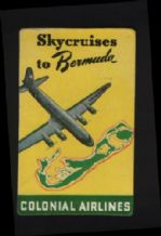 Airline luggage label  Colonia Airline  Bermuda rare #299,